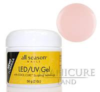 Прозрачно-розовый LED/UV-гель All Season Pink, 56 г