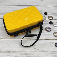 Сумка-косметичка 6312 (желтая) пластиковая через плечо (175*105*57 мм) Уценка, фото 1