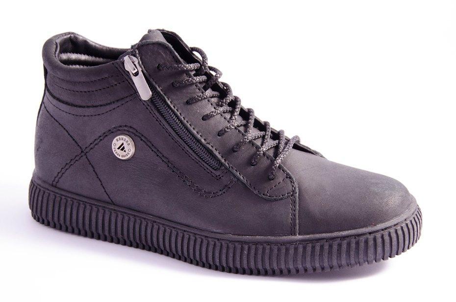 Ботинки мужские черные Konors 7013/04-1