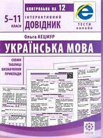Інтерактивний довідник Українська мова 5-11кл +онлайн код + Qкод Кецмур О. Маркотенко Т. Горошкіна О., фото 1