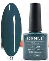 Гель лак Canni 126 (темный бирюзово-зеленый)