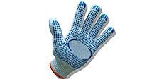 Перчатки трикотажные с ПВХ-нанесением 10 класс, 3 нити