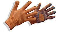 Перчатки трикотажные с ПВХ-нанесением 10 класс, 2 нитей