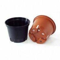 Горщик для розсади KLODA / Горшок для рассады №13 960мл (чорний/теракот)