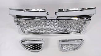 Решетка + жабры ( хром решетка + хром сетка) Range Rover Sport 2005-2009