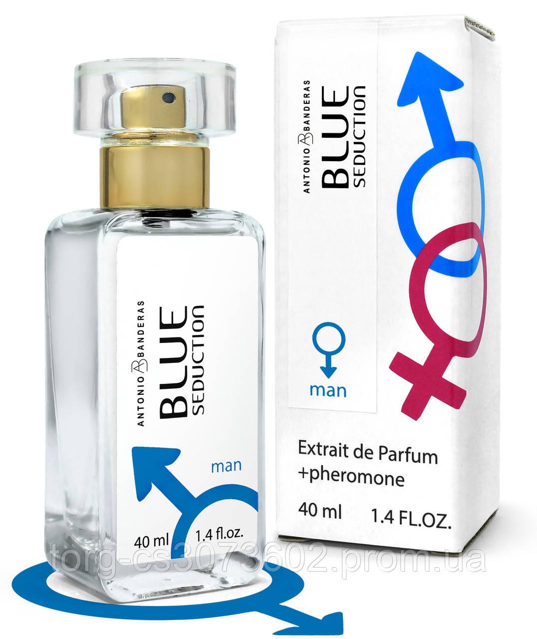Тестер Pheromone мужской Antonio Banderas Blue Seduction for Men, 40 мл.