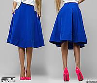 Женская юбка однотонная с карманами