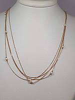 Золоте кольє з перлами. Артикул 811034, фото 1