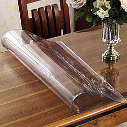 Гнучке (м'яке, рідке) скло скатертину на стіл Soft Glass 2.3х1.4м (товщина 2.0 м) Прозора