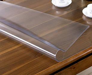 Гнучке (м'яке, рідке) скло скатертину на стіл Soft Glass 2.4х1.4м (товщина 2.0 м) Прозора