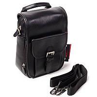 Мужская кожаная маленькая сумка Eminsa 6059-12-1 черная