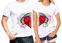 """Парные футболки """"Сердце"""""""