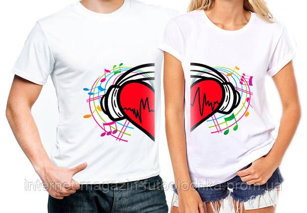 """Парные футболки """"Сердце"""", фото 2"""