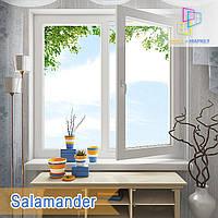 "Двустворчатые окна Salamander 2D 1200x1400 ""Окна Маркет"""