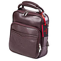 Мужская кожаная сумка барсетка Eminsa 6006-12-3 коричневая