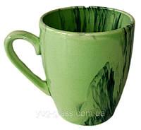 Кружка 400 мл ''Европа'' радуга зелёная.