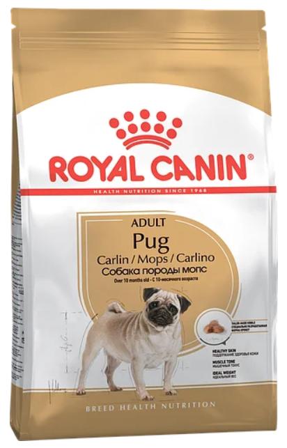 Сухий корм для собак Royal Canin (Роял Канін) PUG ADULT порода мопс від 10 місяців, 1,5 кг