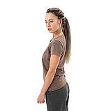 Коричневая женская футболка, фото 2