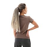 Коричневая женская футболка, фото 4