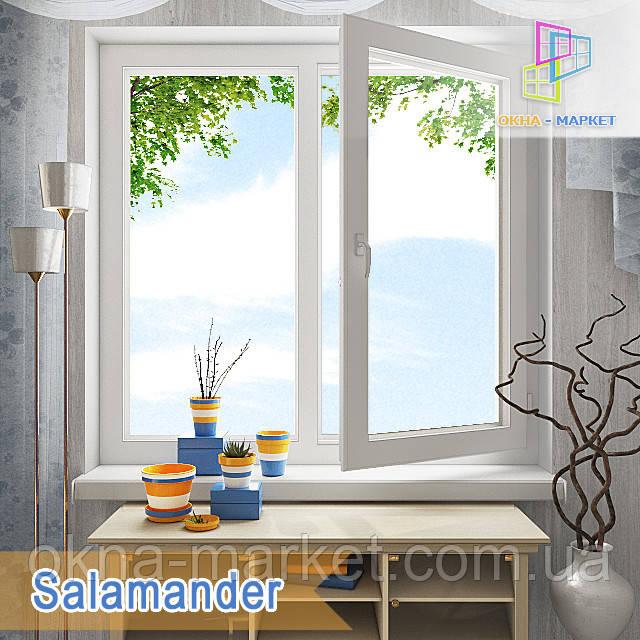 Двустворчатое окно Salamander 1200*1400 цена