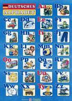 Плакат. Німецький алфавіт для учня. Друковані літери (формат А4).