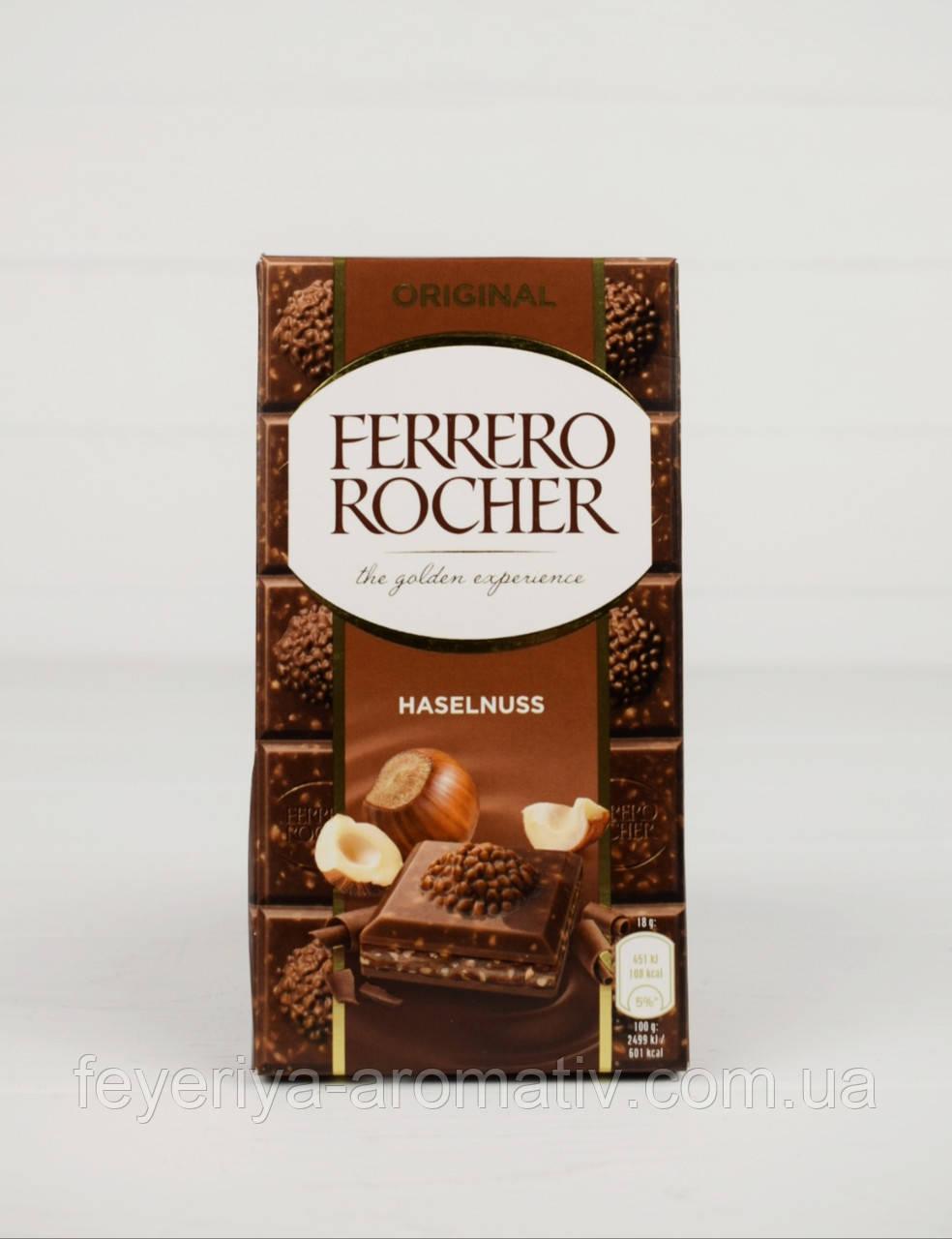 Шоколад молочний з фундуком Ferrero Rocher Haselnuss 90г (Італія)