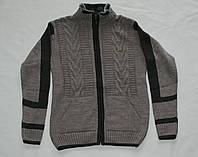 Кофта вязанная на молнии 10-14 лет