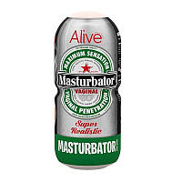 Мастурбатор-вагіна у вигляді банки пива Alive Heineken Vagina, фото 1