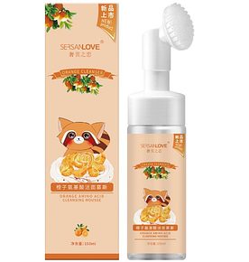 Пінка-мус для вмивання SERSANLOVE Orange Amino Acid Cleanser Mousse з екстрактом апельсина 150 мл