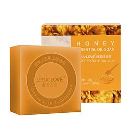 Мыло ручной работы SERSANLOVE Honey Essential Oil Soap с эфирным маслом меда 100 гр
