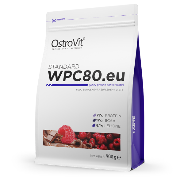 Протеїн Standard WPC80.eu OstroVit 900 г Шоколад - Малина