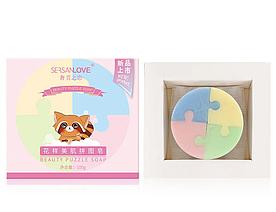 Мыло SERSANLOVE Beauty Puzzle Soap с экстрактами растений 100 гр