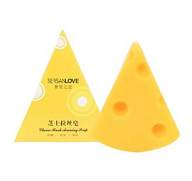 Натуральное мыло SERSANLOVE Cheese Rush Cleaning Poap с молочными протеинами и эфирными маслами 60 гр