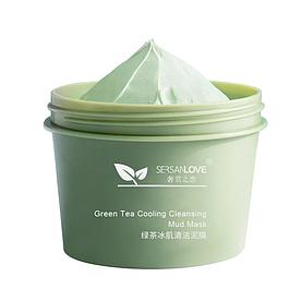 Грязьова маска для обличчя SERSANLOVE Green Tea Cooling Cleansing Mud Mask з зеленим чаєм 100 гр