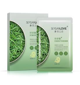Омолоджуюча маска для обличчя SERSANLOVE Tea Polyphenols Anti Wrinkle Mask з поліфенолами зеленого чаю