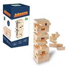Настольная игра Дженга Падающая башня, 54 бруска, Игра дженга