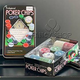 Покерний набір, 100 фішок, Покерный набор