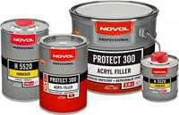Автомобильный грунт акриловый серый 4+1 protect 300 novol 1л + отвердитель 5520 0.25л