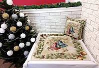 Набор новогодний квадрат 80х80 + наволочка 45х45 St-136 *