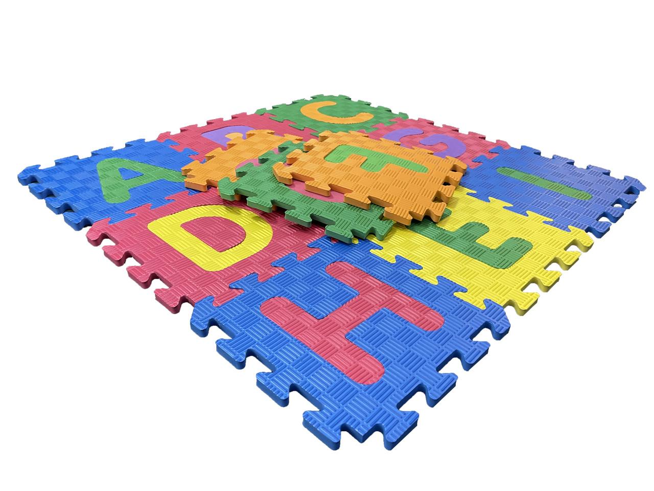 Дитячий розвиваючий килимок - пазли Алфавіт EVA
