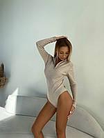 Жіноче боді з ангори в рубчик