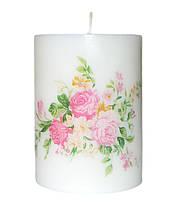 Свеча декоративная розы 60х80 мм