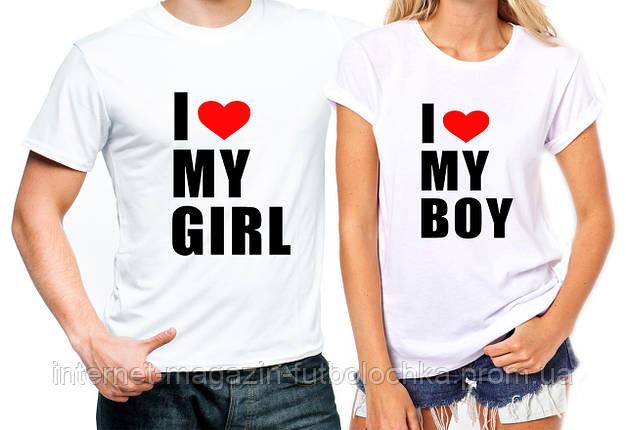 """Парные футболки """"Boy/Girl"""", фото 2"""