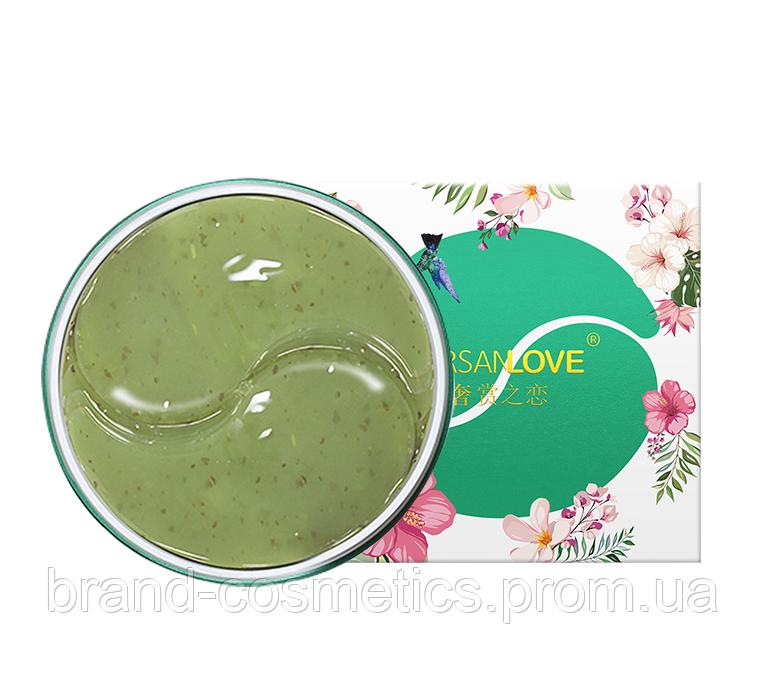 Гидрогелевые патчи под глаза SERSANLOVE Green Tea Gel Eye Mask с зеленым чаем 60 шт
