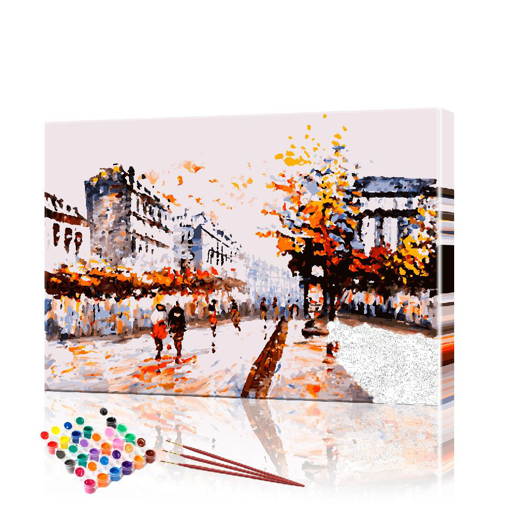 "Картина по номерам ArtSale ""Старинные улочки"" размер 40х60 см"