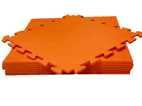 Lanor Дитячий м'яка підлога-пазл 480*480*10мм НХ помаранчевий, фото 2
