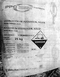 Калій їдкий / гідроксид луг калію 25 кг Корея, фото 2