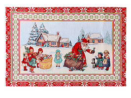 Салфетка на стол гобеленовая Новогодняя 50 х 35 см 716-123