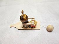 Детская игрушка деревянная Заяц-косой