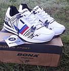 Кроссовки Bona р.40 кожа белые, фото 3